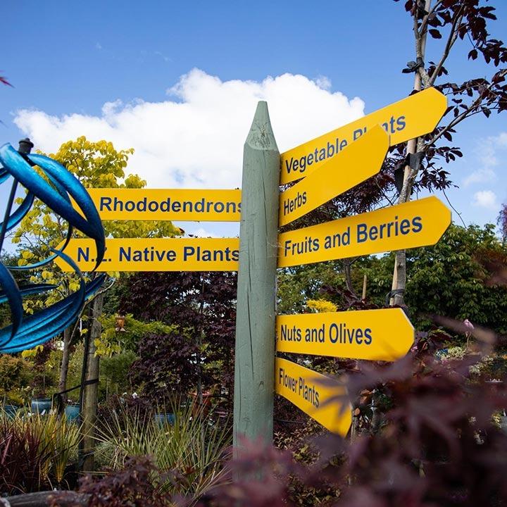 blueskin nurseries sign